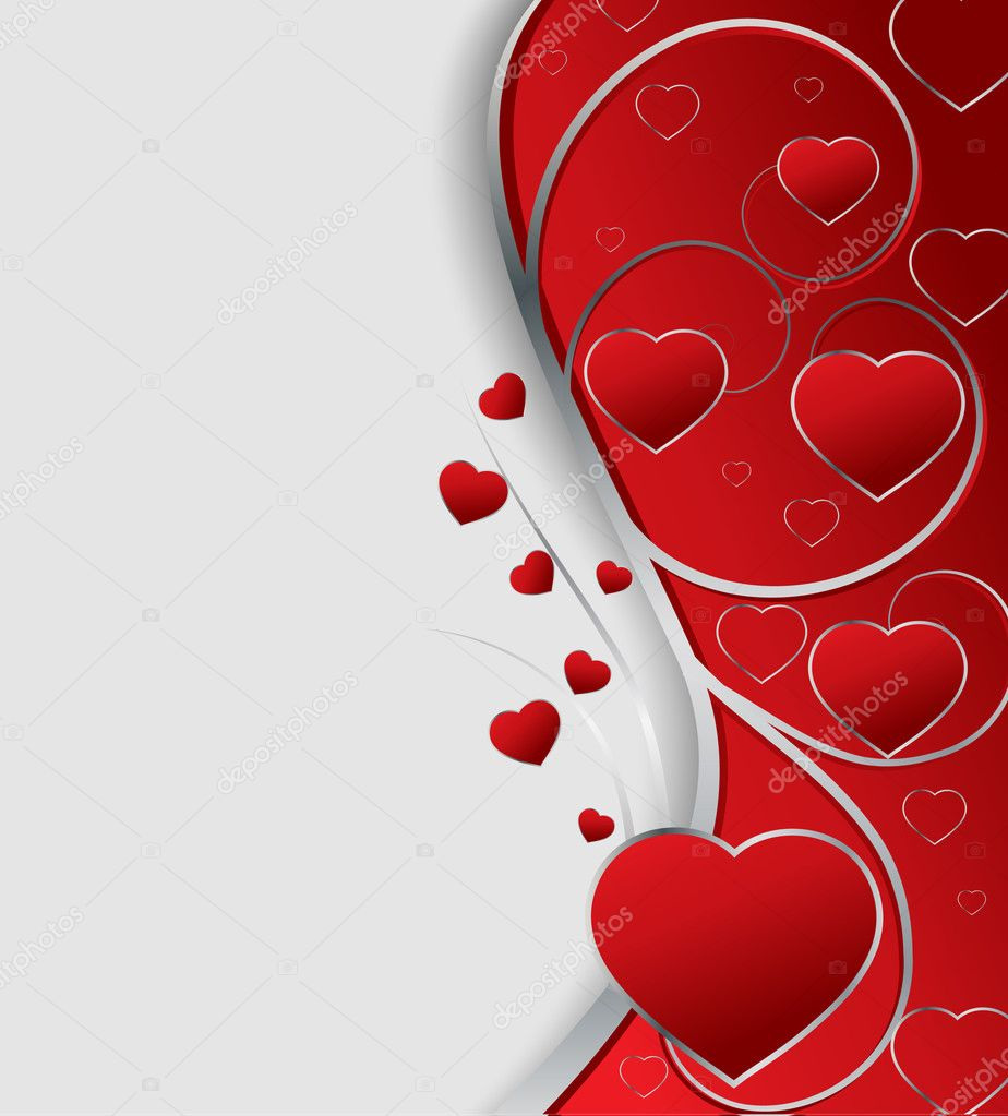 Valentines greeting card, vector illustration  Imagen vectorial #1530201