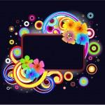 Modern floral frame — Stock Vector #1582879