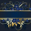 Royalty-Free Stock Vectorafbeeldingen: Golden floral frame