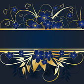 Golden floral frame — Stockvektor