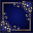 Golden floral frame - Stock Vector