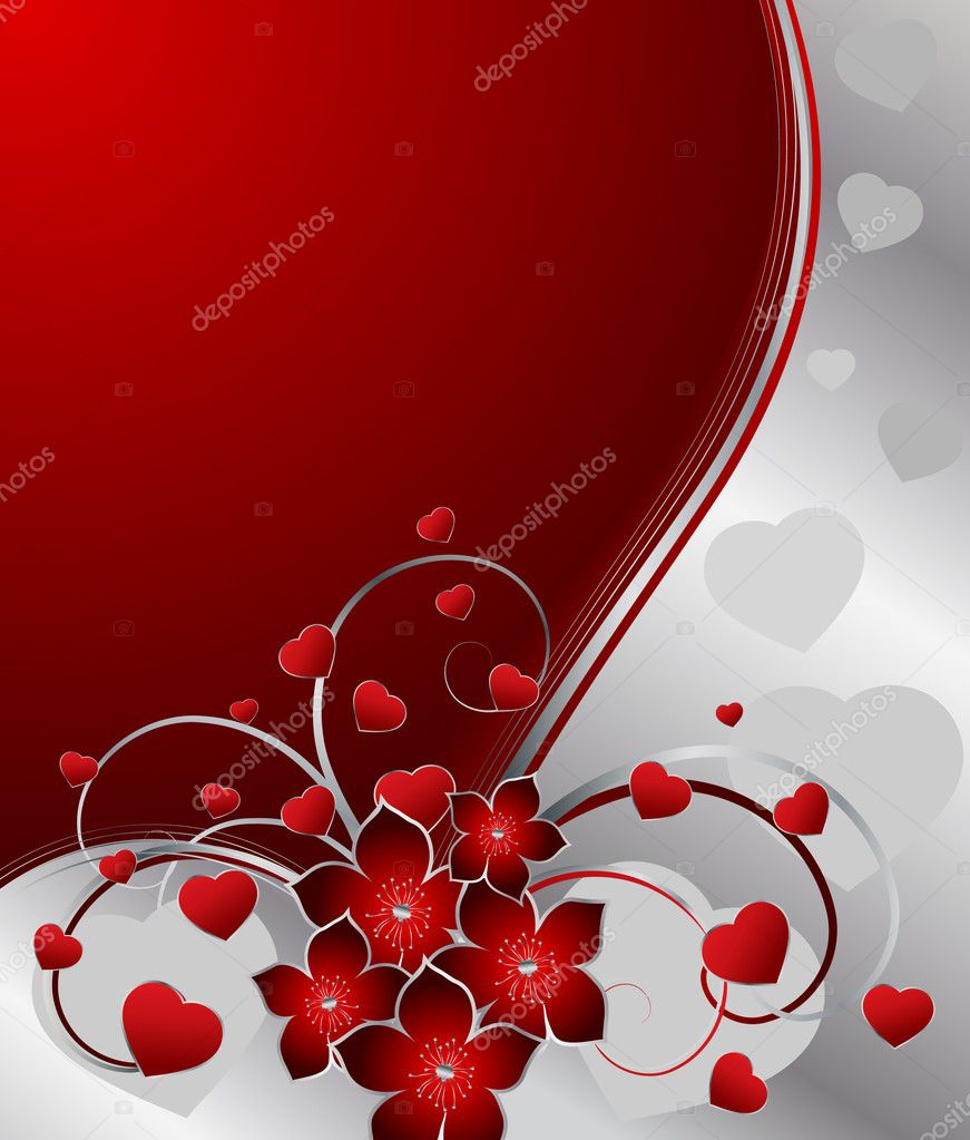 Valentines greeting card, vector illustration — Stock Vector #1860958