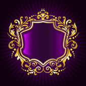 Golden floral frame — Stockvector