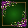 Golden floral frame — Stockvector #2454652