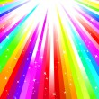 Stock Vector: Rainbow burst