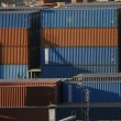 Cargo containers in port — Stock Photo