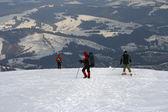 Skiers — Stok fotoğraf