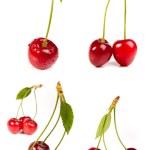 Сладкий красный вишня — Стоковое фото