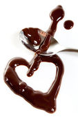 Melted dark chocolate — Stock Photo