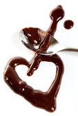 Melted dark chocolate — Stock Photo