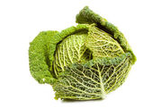 Ripe savoy cabbage — Stock Photo