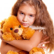Little Girl And Teddy Bear - 图库照片