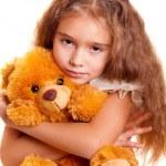 Little Girl And Teddy Bear — Stock Photo #2537344