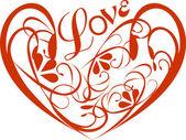 Fond avec coeur — Vecteur