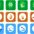 Royalty-Free Stock Vector Image: Set of nature icons