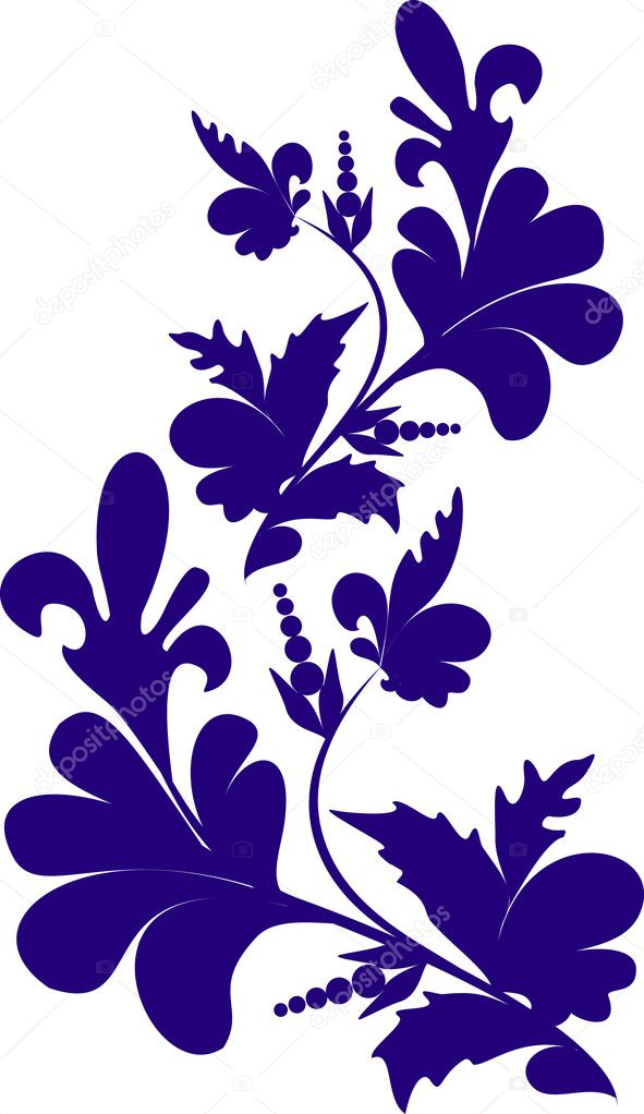 Decorative branch  Stock Vector #1113639