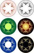 6 圆装饰图案 — 图库矢量图片