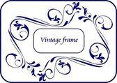 Décor vintage pour texte — Vecteur