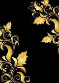 Metin için antika dekoru — Stok Vektör
