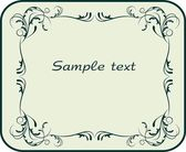 Vintage decor for text — Stock Vector