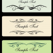 Decor for text. set 3 — Vector de stock #2536962