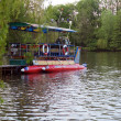 Riverboat in park lake — Stock Photo #1076064