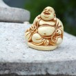 ANTIQUE IVORY BUDDHA STATUE — Stock Photo