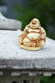 ANTIQUE IVORY BUDDHA STATUE — 图库照片