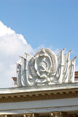 Soviet signs in architecture — 图库照片