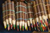 Wax color pencils — Stock Photo