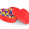 Box in the form of heart — Stock Photo
