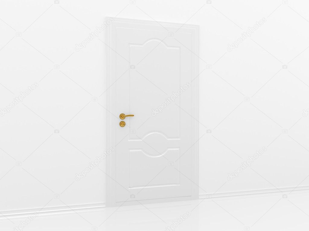3d rendering the empty room with opened door — Stock Photo #1138425