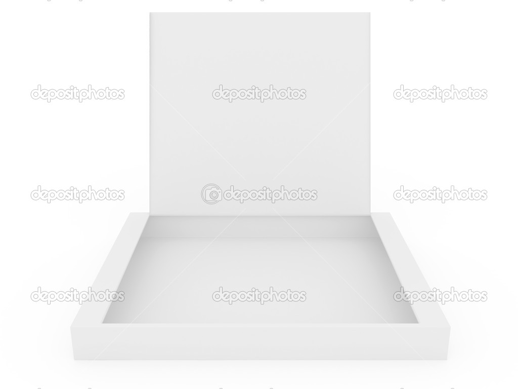 White opened cardboard box isolated on white background  Stockfoto #1138744