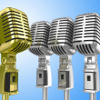 Vintage microphone — Stock Photo
