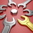 Wrench tools — Stock Photo
