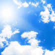 Sunny sky background — Stock Photo