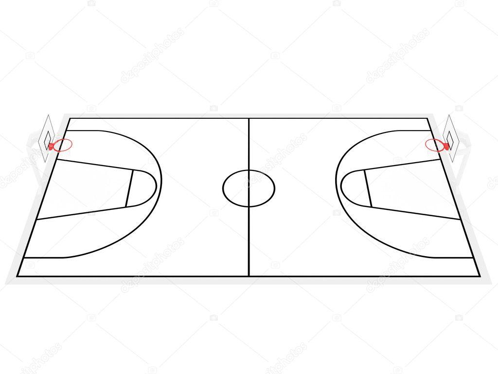 terrain de basket photographie altsha 1162467. Black Bedroom Furniture Sets. Home Design Ideas
