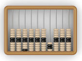 Closeup of a vintage abacus on a white background — Stock Photo
