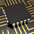 Mother board with chip — Stock Photo #1994060