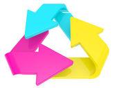 Símbolo de processamento secundário — Fotografia Stock
