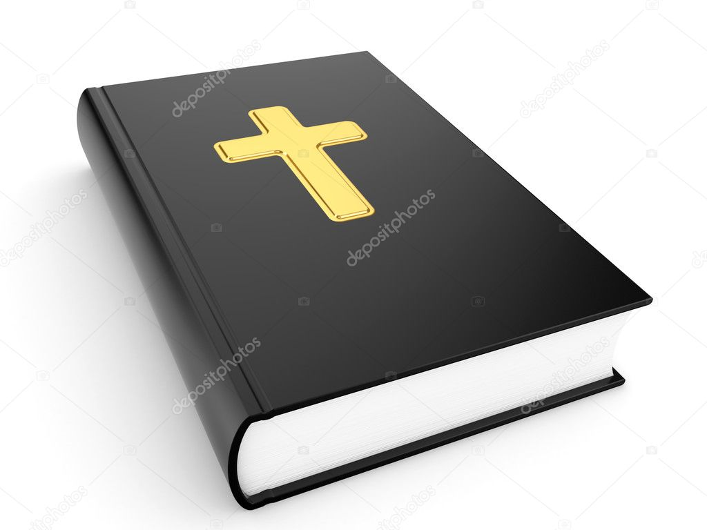 The sacred book the bible on a white background — Stock Photo #2692997