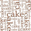 Stock Photo: Cake in manner of letters