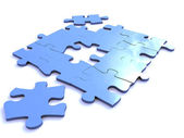 Blue puzzle — Stock Photo