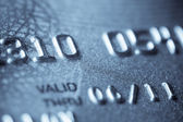 Macro shoot of a credit card — Stock Photo