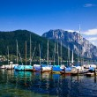 Royalty-Free Stock Photo: Yacht club in the Alps