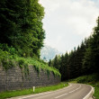 Foto Stock: Alpine road