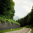 Stock Photo: Alpine road