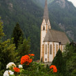 Catholic church in  Austrian Alps — Stock Photo