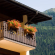 Flowers on a balcony - Stock Photo