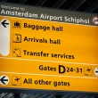 Information sign in Schiphol airport — Stock Photo